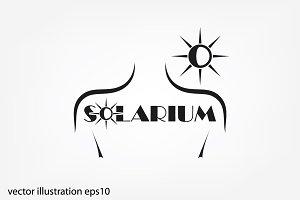 solarium logo, icon vector