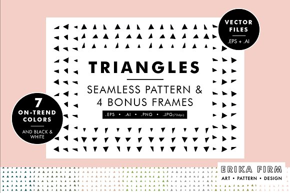 Organic Triangle Pattern Vector