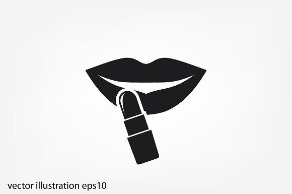 Woman Lips And Lipstick Icon