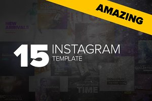 "15 Instagram Templates - ""Amazing"""