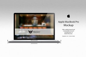 Apple MacBook Pro Vector Mockup