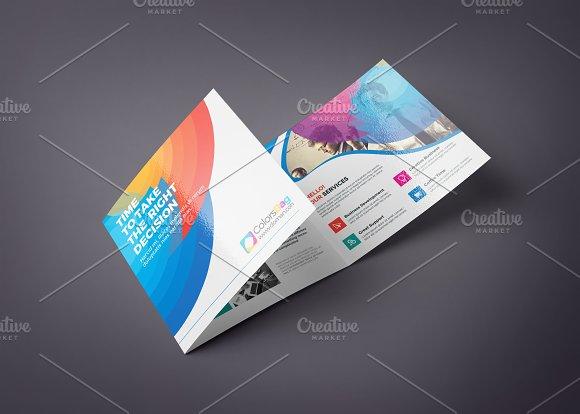 square tri fold brochure brochure templates creative market