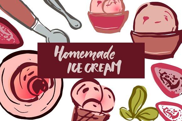 Ice Cream Elements Illustration