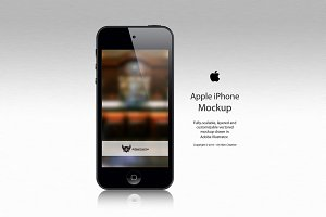 Apple iPhone 5 Vector Mockup