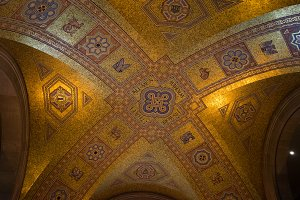 Mosaic Tile Sequence on Ceiling