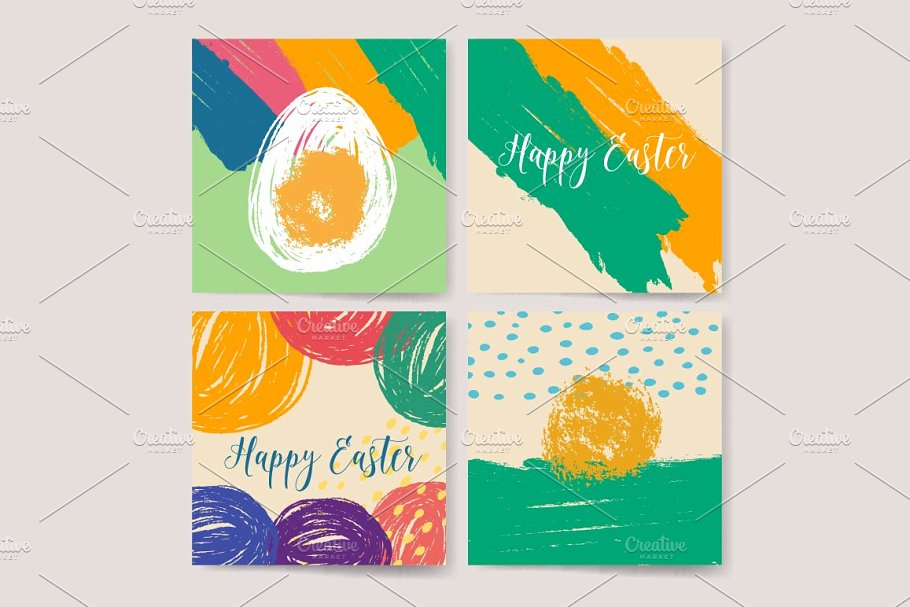 Hand drawn Happy Easter design