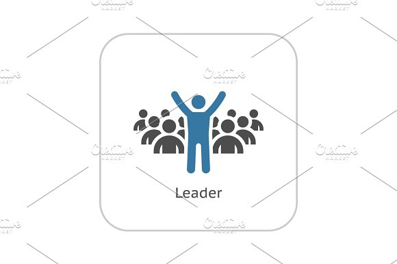 Leader Icon Business Concept Flat Design