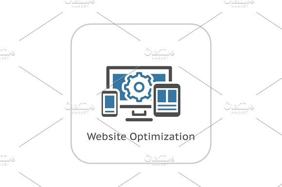 Website Optimization Icon Flat Design
