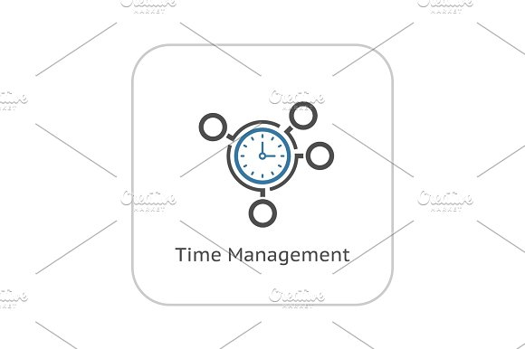 Time Management Icon Business Concept