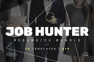 JOB HUNTER - Resume/CV Bundle