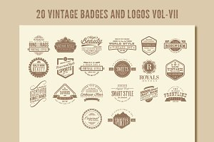 Vintage Badges and Logos Vol-7