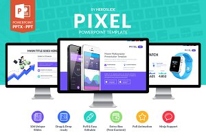 Pixel , Business Powerpoint Template