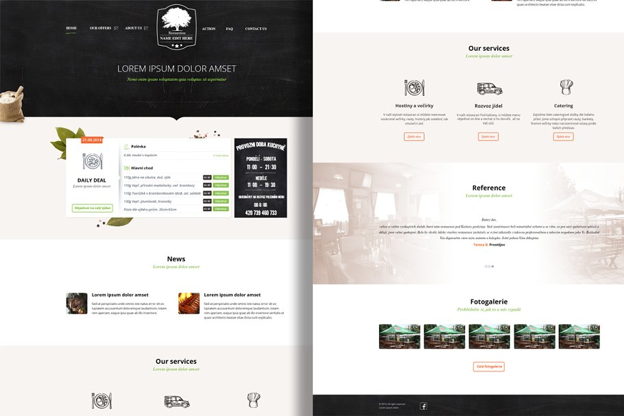 Restaurant PSD theme in Website Templates - product preview 8