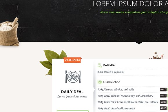 Restaurant PSD theme in Website Templates - product preview 1