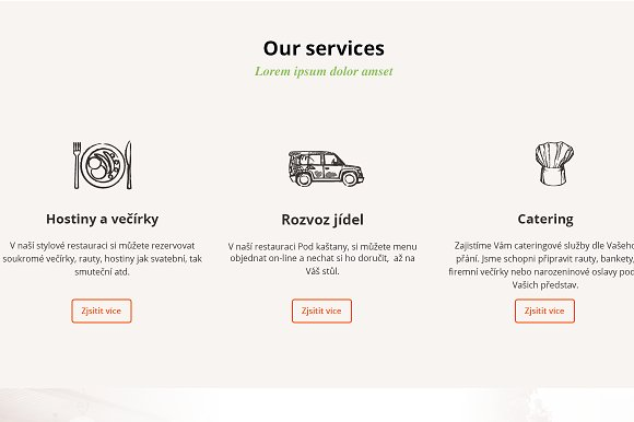 Restaurant PSD theme in Website Templates - product preview 3
