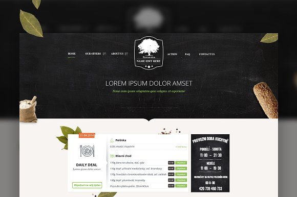 Restaurant PSD theme in Website Templates - product preview 4