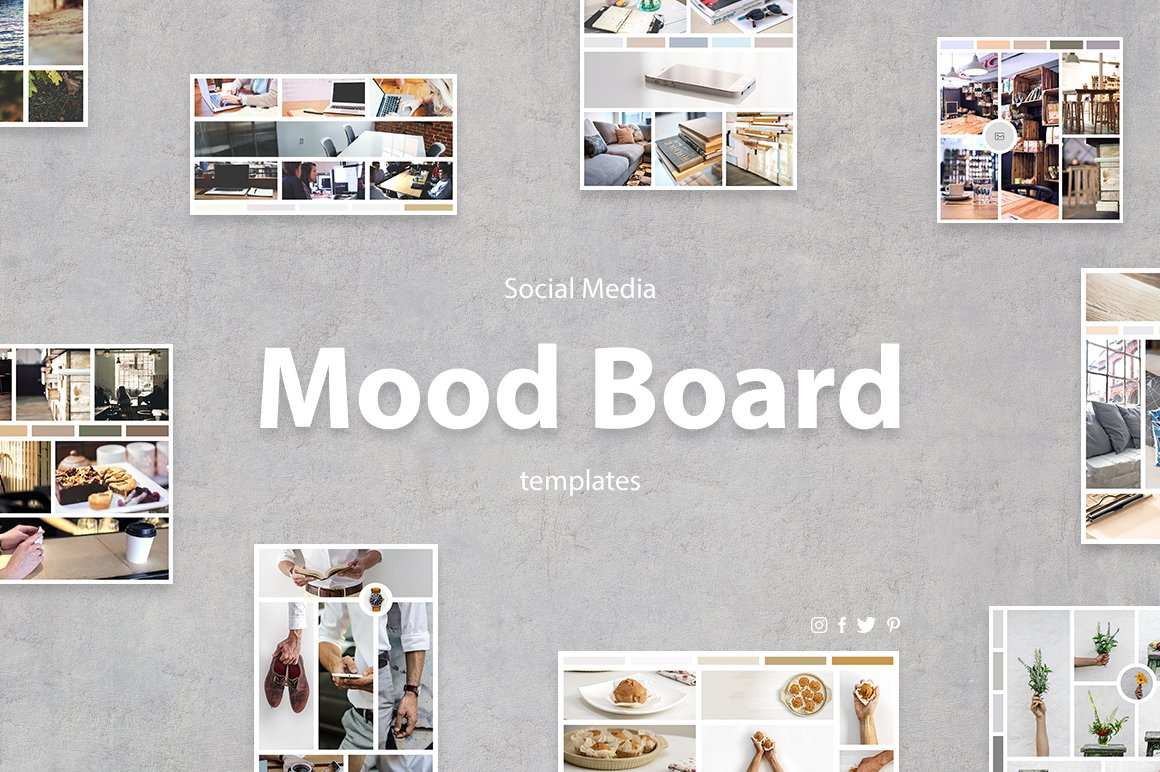 50 off social media mood boards social media templates for Fashion mood board template