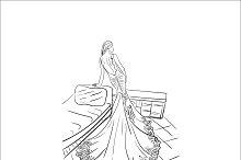 fashion, lady, vector illustration