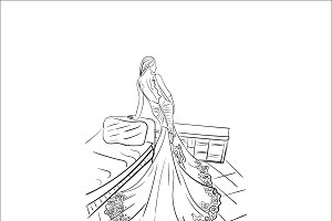 fashion, lady, vector illustration