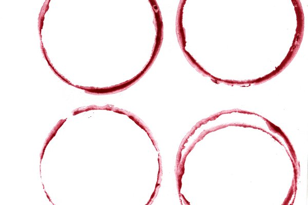 Watercolor glass wine circle stains…