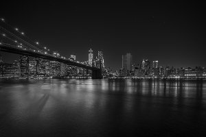 Brooklyn Bridge at night, New York