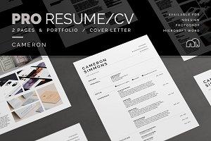 Pro Resume/CV - Cameron