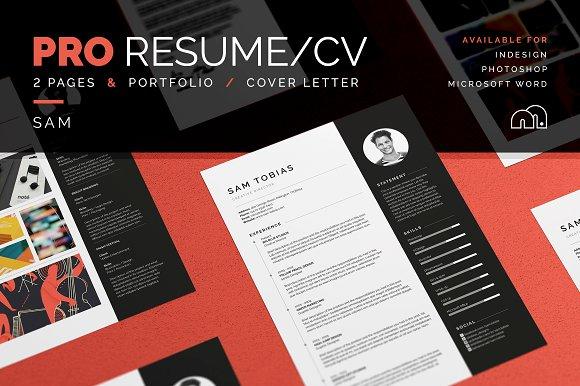 pro resume cv sam resume templates creative market