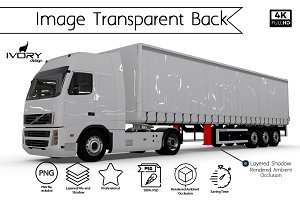 Blank Truck Trailer Transparent Back
