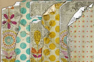 Altered Bohemian {worn papers}
