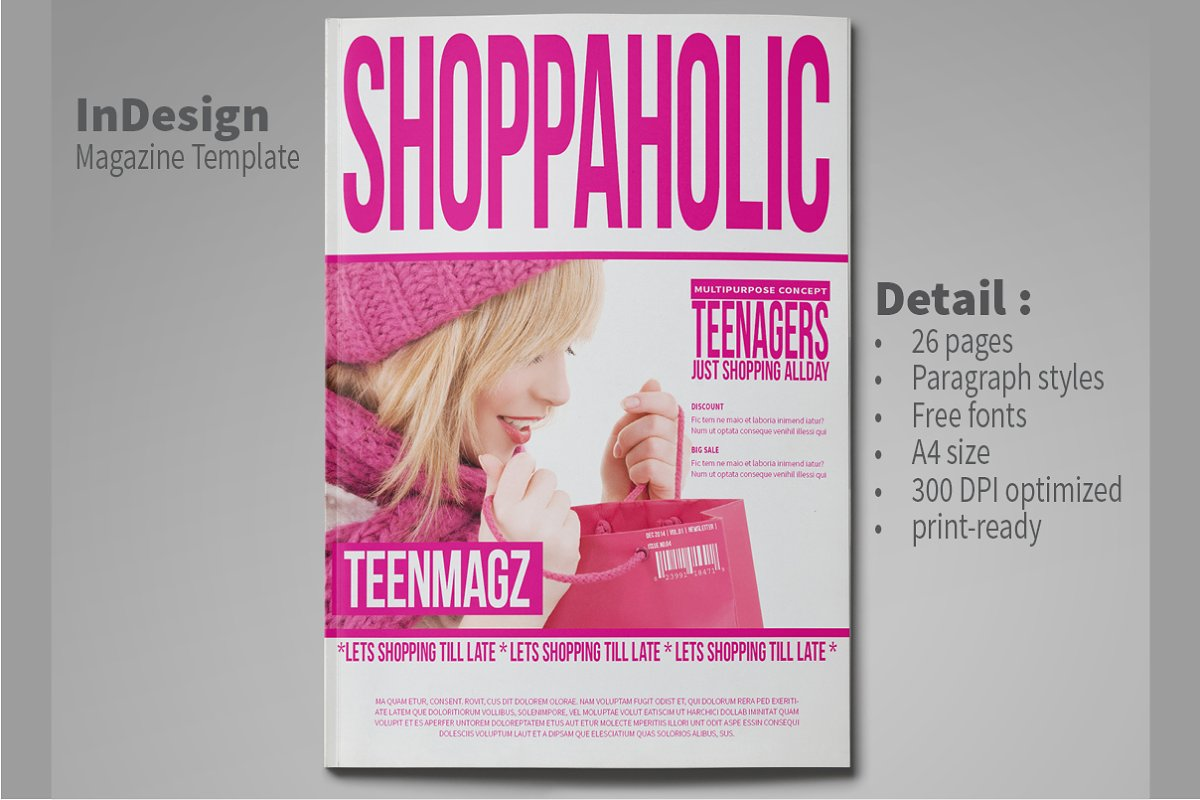 InDesign Magazine Template 26 Pages in Magazine Templates - product preview 8