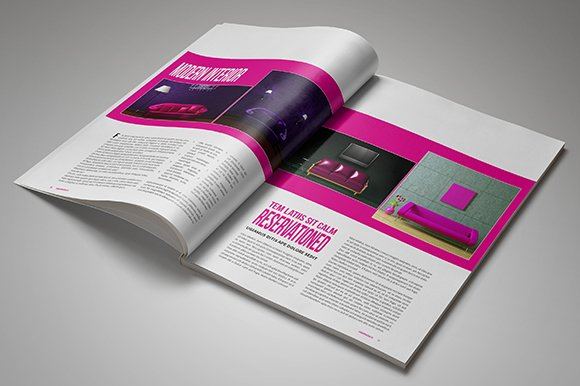 InDesign Magazine Template 26 Pages in Magazine Templates - product preview 3
