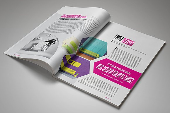 InDesign Magazine Template 26 Pages in Magazine Templates - product preview 4