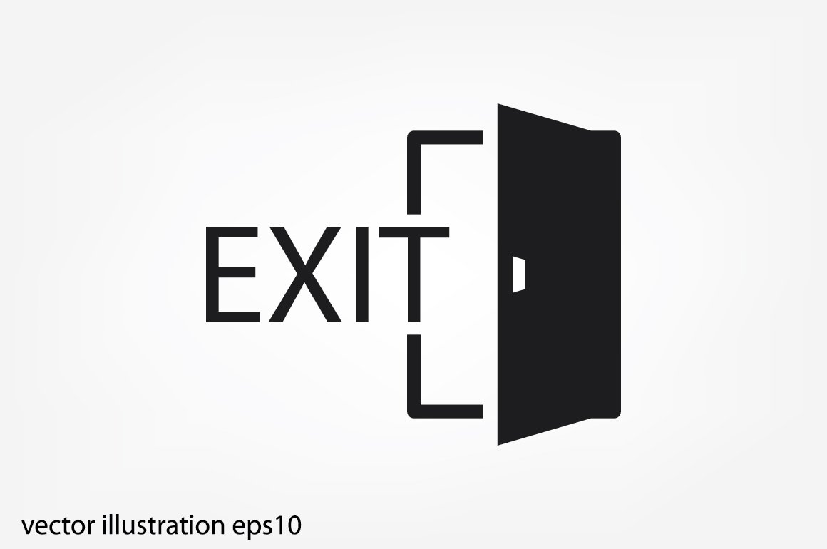 Exit Vector Icon Custom Designed Icons Creative Market