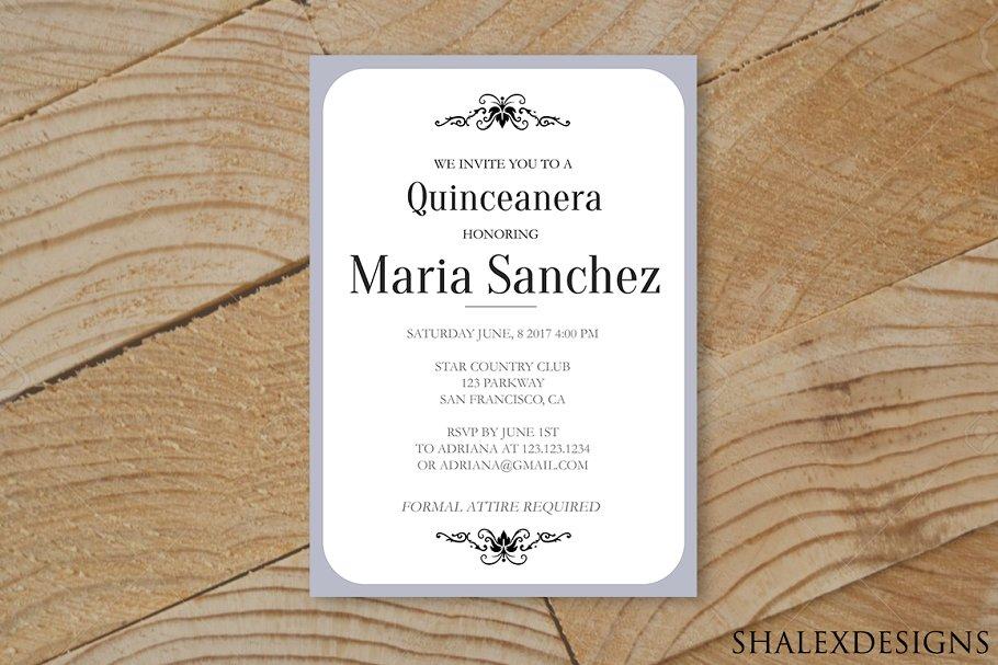 Quinceanera Invitation Template