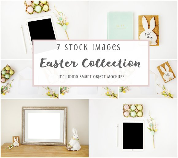 Mockup Styled Stock Easter Bundle in Product Mockups