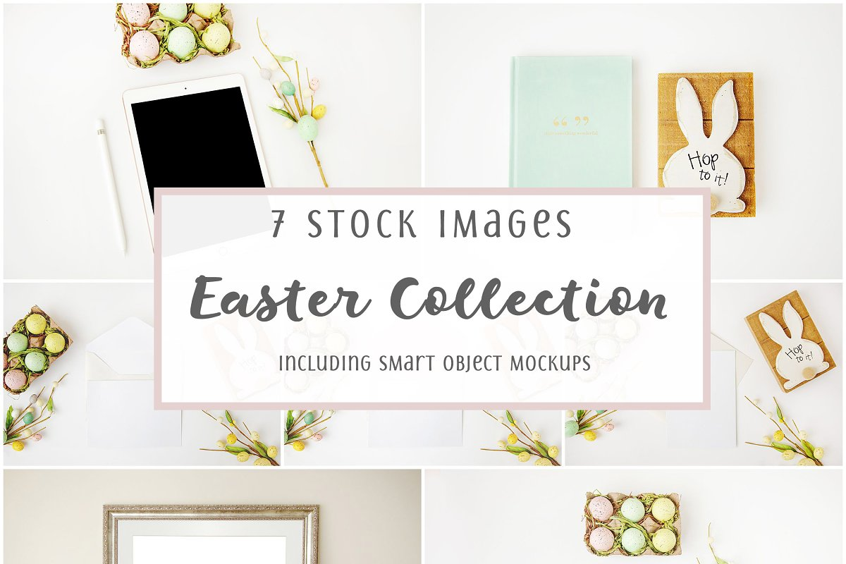 Mockup Styled Stock Easter Bundle in Mobile & Web Mockups - product preview 8
