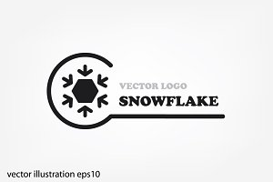 Snowflake logo, icon vector