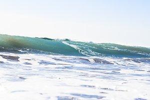 Beach and Mediterranean sea
