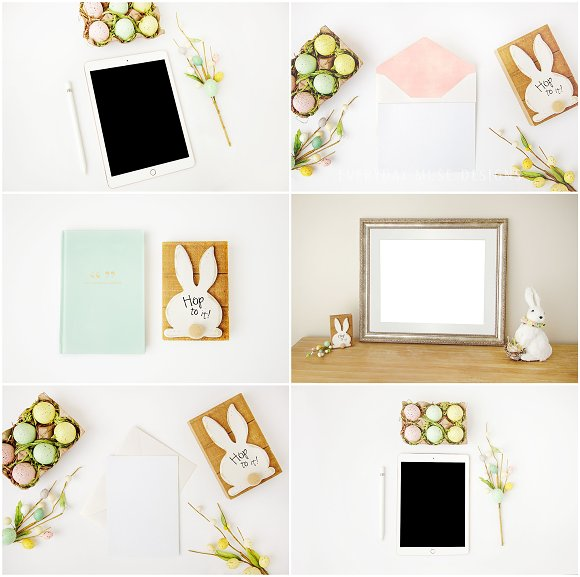 Mockup Styled Stock Easter Bundle in Mobile & Web Mockups - product preview 1