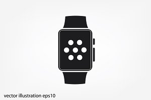 smart watch icon vector