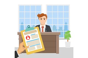 Job interview concept for the vacancy