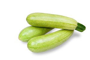 Green zucchini vegetable