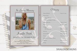 Funeral Program Flyer Template