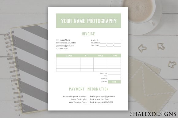 Invoice Form PSD Template