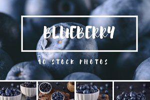 Blueberry Stock Photo Bundle