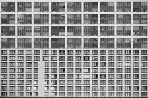 Texture of modern residential facade