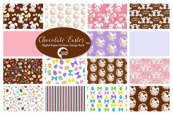 Chocolate Easter Paper Pack AMB-1803