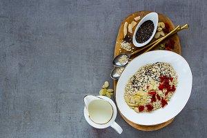 Quinoa flakes for breakfast