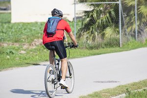 biker doing sport