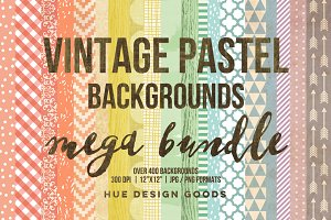 Vintage Pastel Backgrounds Bundle